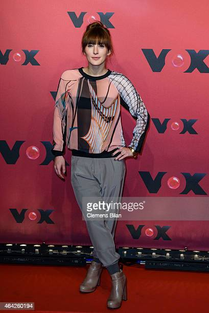 Jeannine Michaelsen attends a photocall for the TV channel VOX on February 23, 2015 in Berlin, Germany.