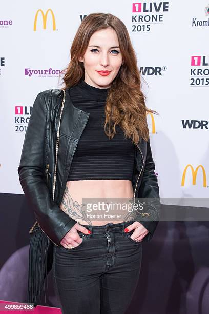 Jeannine Michaelsen attends the 1Live Krone 2015 at Jahrhunderthalle on December 3, 2015 in Bochum, Germany.