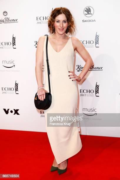 Jeannine Michaelsen attends the Echo award red carpet on April 6 2017 in Berlin Germany