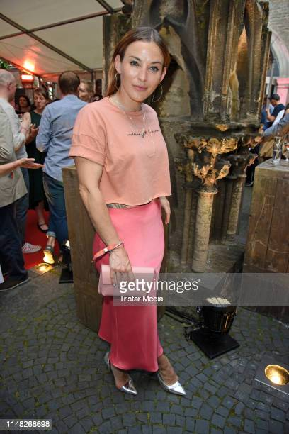 "Jeannine Michaelsen attends the ""Film- und Medienstiftung NRW"" summer party at Wolkenburg on June 5, 2019 in Cologne, Germany."