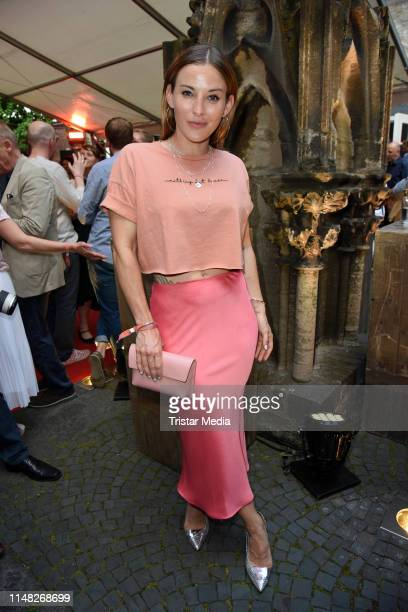 "Jeannine Michaelsen attends the ""Film- und Medienstiftung NRW"" summer party at Wolkenburg on June 5, 2019 in Cologne, Germany."