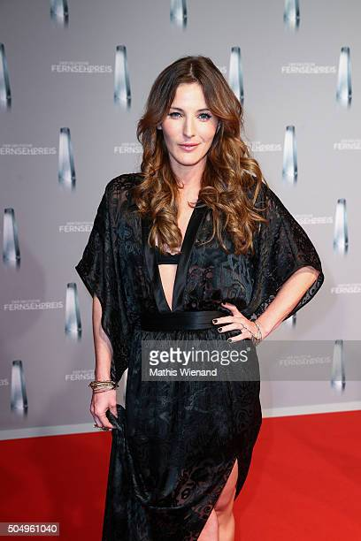 Jeannine Michaelsen attends the German Television Award at Rheinterrasse on January 13, 2016 in Duesseldorf, Germany.