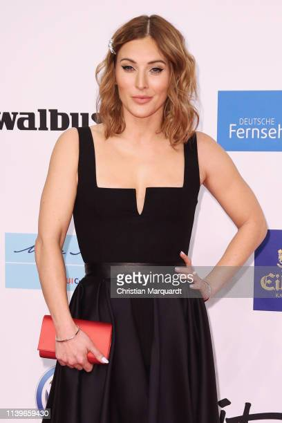 Jeannine Michaelsen attends the Goldene Kamera at Tempelhof Airport on March 30, 2019 in Berlin, Germany.