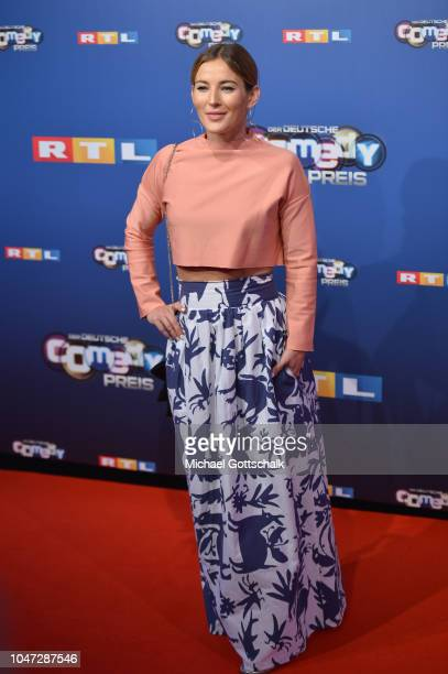 Jeannine Michaelsen attends the red carpet at the 22nd Annual German Comedy Awards at Studio in Koeln Muehlheim on October 7, 2018 in Cologne,...