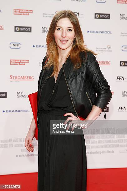 Jeannine Michaelsen attends the World premiere of Stromberg - Der Film at Cinedom Koeln on February 18, 2014 in Cologne, Germany.