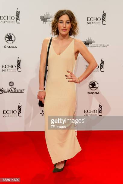 Jeannine Michaelsen on the red carpet during the ECHO German Music Award in Berlin Germany on April 06 2017