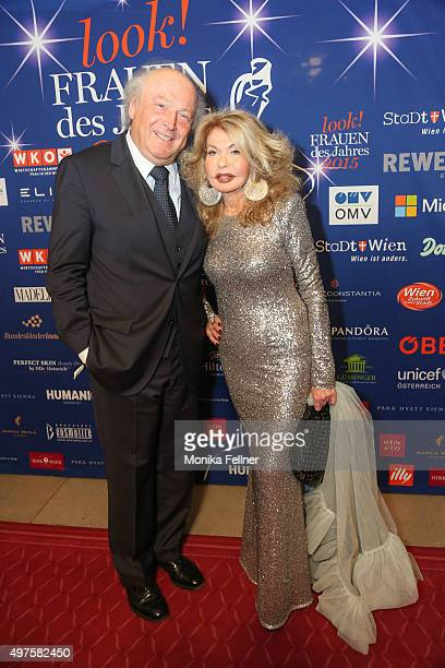Jeannine Schiller and her husband Friedrich attends the Look Women Of The Year Awards 2015 at the city hall on November 17 2015 in Vienna Austria