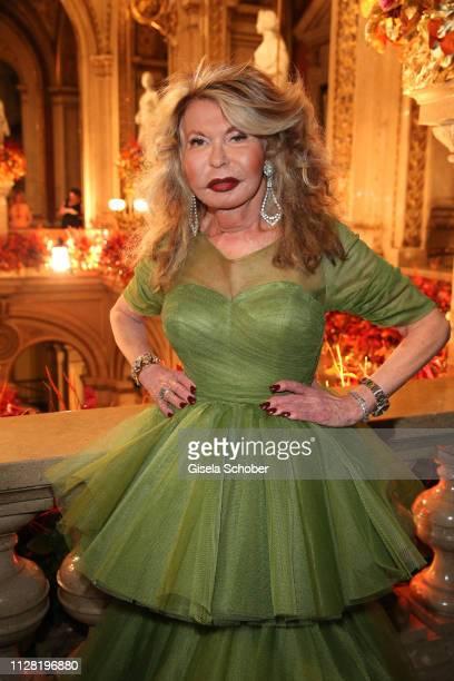 Jeannine Schiller during the Opera Ball Vienna at Vienna State Opera on February 28, 2019 in Vienna, Austria.