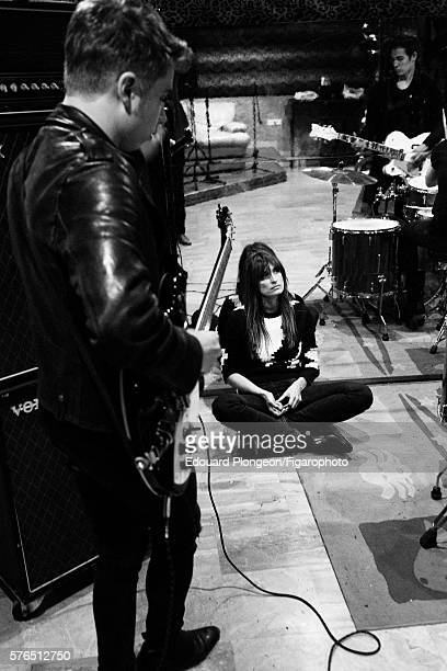 JeanNoel Scherrer of the band Last Train and Caroline de Maigret are photographed for Madame Figaro on May 9 2016 in Paris France JeanNoel Scherrer...
