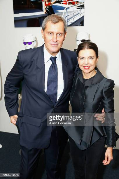 JeanPascal Hesse is pictured during his book signing with Dominique VignaStringer at Pierre Cardin Museum as part of the Paris Fashion Week...