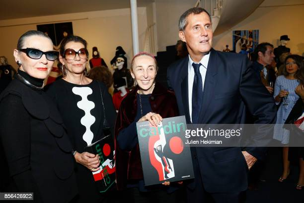 JeanPascal Hesse is pictured during his book signing with Maryse Gaspard Martine Assouline and Carla Sozzani at Pierre Cardin Museum as part of the...