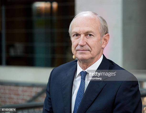 Jean-Paul Agon, chief executive officer of L'Oreal SA, looks on during a Bloomberg Television interview at the Hello Tomorrow technology conference...