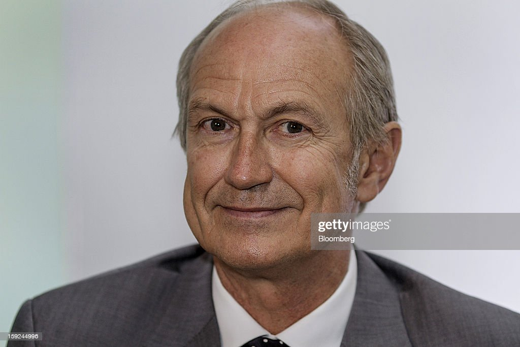 Jean-Paul Agon, chief executive officer of L'Oreal SA, smiles during a news conference for the opening of the company's first research and innovation center in Mumbai, India, on Thursday, Jan. 10, 2013. L'Oreal SA, the world's largest cosmetics maker, today inaugurated its new Indian R&I center. Photographer: Dhiraj Singh/Bloomberg via Getty Images