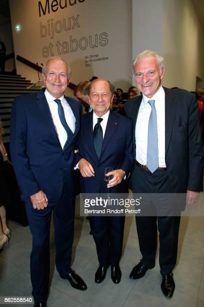 JeanPaul Agon JeanClaude Meyer and Alain Flammarion attend the 'Societe des Amis du Musee d'Art Moderne de la Ville de Paris' Dinner on October 17...