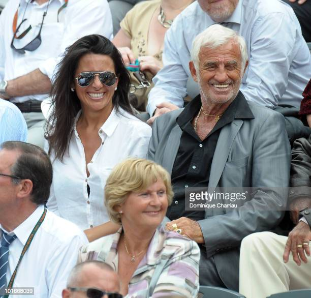 JeanPaul Belmondo and Barbara Gandolfi are seen at the French Open on June 6 2010 in Paris France