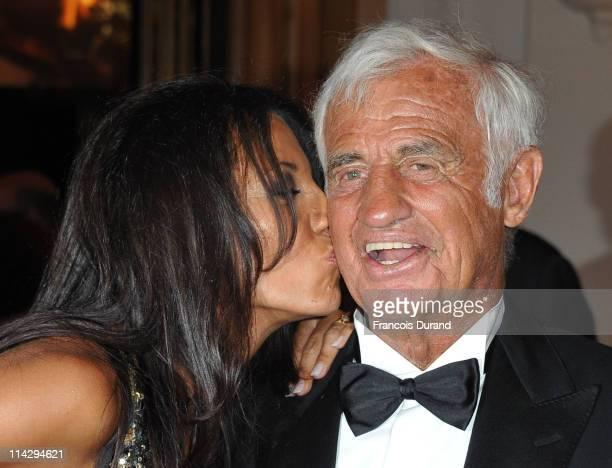 JeanPaul Belmondo and Barbara Gandolfi attends the Belmondo The Career tribute dinner during the 64th Annual Cannes Film Festival atthe Carlton Hotel...