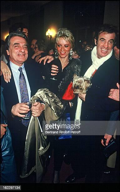 JeanPaul Belmondo and his brother Alain aftert Kean dress rehearsal Theatre de Marigny Paris 1987