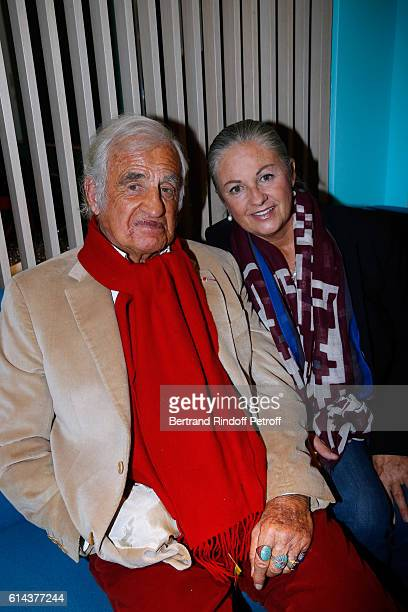 JeanPaul Belmondo and his daughter Florence Belmondo attend Luana Belmondo presents her book 'Mes Recettes Bonne Humeur' at Ida Restaurant in Paris...