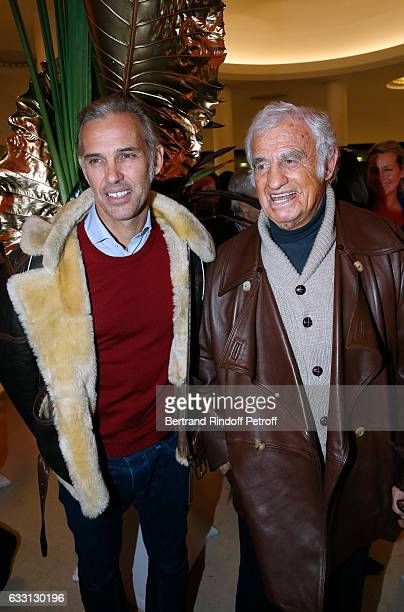 JeanPaul Belmondo and his son Paul Belmondo attend the Charity Gala against Alzheimer's disease at Salle Pleyel on January 30 2017 in Paris France