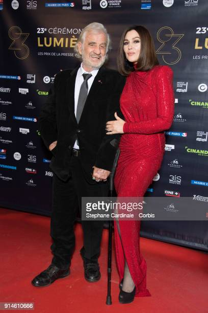 JeanPaul Belmondo and Monica Bellucci attend the 23rd Lumieres Award Ceremony at Institut du Monde Arabe on February 5 2018 in Paris France