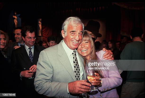 "JeanPaul Belmondo and Natty at The First ""Desire""in Paris France on April 09 1996"