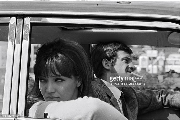 Jean-Paul Belmondo; Anna Karina in June 1965.