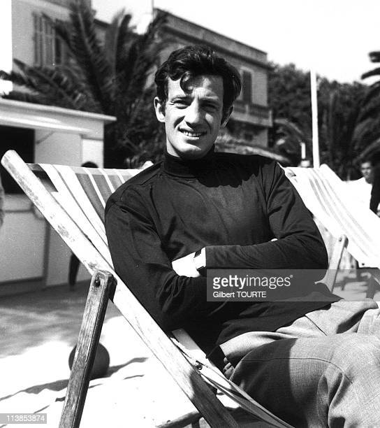 Jean-Paul Belmondo at Cannes film festival in 1964. .