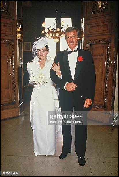 JeanPaul Belmondo at his daughter Patricia's wedding in 1986