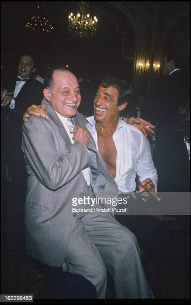 Jean-Paul Belmondo at his daughter Patricia's wedding in 1986, with Paul Preboist .