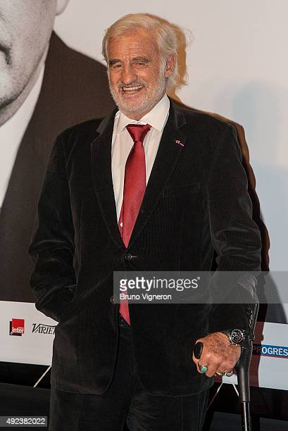 JeanPaul Belmondo attends the Opening Ceremony of the 7th Film Festival Lumiere on October 12 2015 in Lyon France