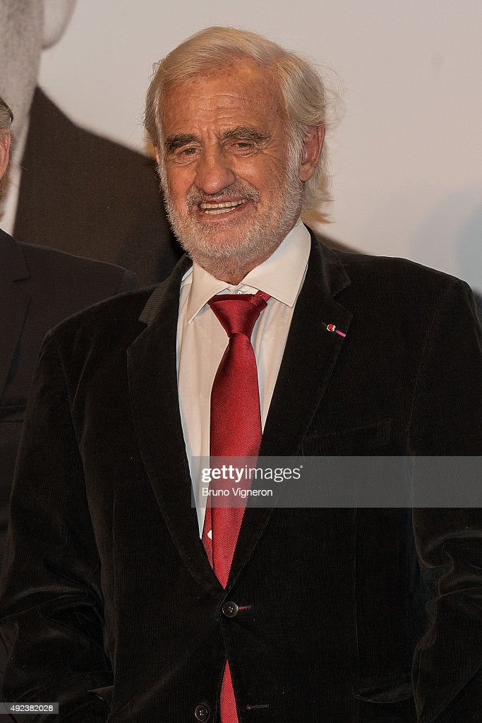 Jean-Paul Belmondo attends the Opening Ceremony of the 7th Film Festival Lumiere on October 12, 2015 in Lyon, France.