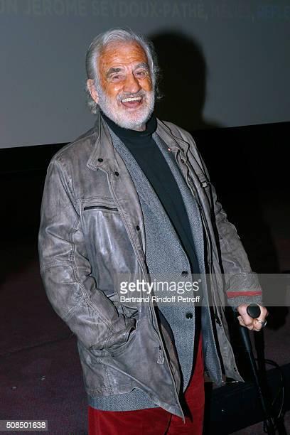 JeanPaul Belmondo presents the 'Leon Morin Pretre' screening at Cinematheque Francaise on February 4 2016 in Paris France