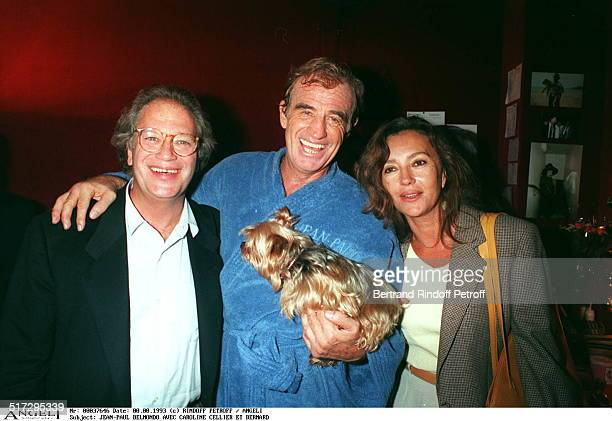 JeanPaul Belmondo with Caroline Cellier and Bernard Murat Premiere of the play Tailleur De Dames at the theater of Paris