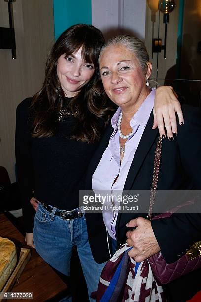 "Jean-Paul Belmondo's daughter Florence Belmondo and her daughter Anabel Belmondo attend Luana Belmondo presents her book ""Mes Recettes Bonne Humeur""..."