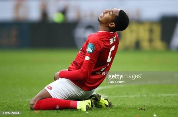 JeanPaul Boetius of FSV Mainz reacts during the Bundesliga match between 1 FSV Mainz 05 and 1 FC Nuernberg at Opel Arena on January 26 2019 in Mainz...