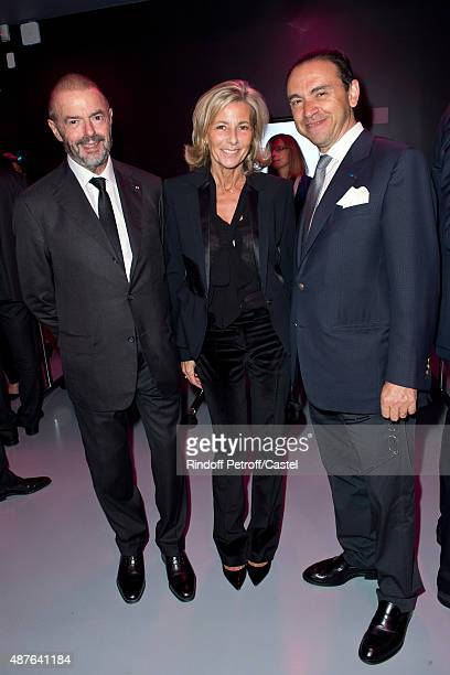 JeanPaul Cluzel Claire Chazal and Laurent Kraemer attend the Auction Dinner to Benefit 'Institiut Imagine' on September 10 2015 in Paris France