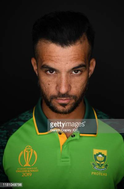 Jean-Paul Duminy of South Africa poses for a portrait prior to the ICC Cricket World Cup 2019 at on May 22, 2019 in Cardiff, Wales.