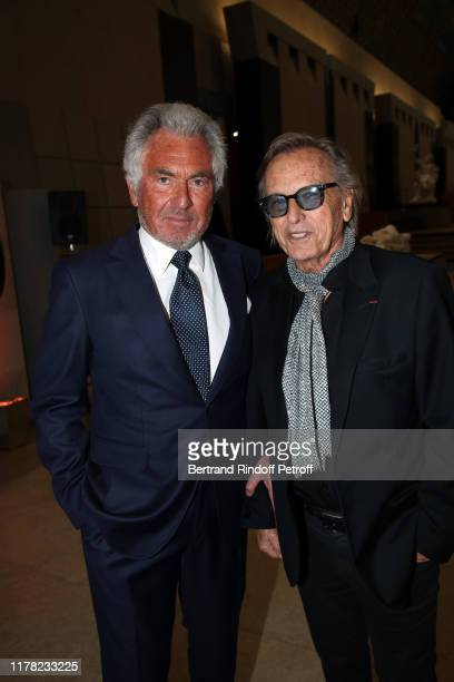 """Jean-Paul Enthoven and Alexandre Arcady attend the """"Societe Des Amis Du Musee D'Orsay"""" Dinner Party Hosted By Countess Jacqueline De Ribes on..."""