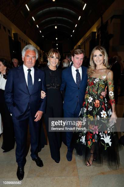 Sylvie Rousseau Gilber Coullier and Nicole Coullier attend 'Societe des Amis du Musee D'Orsay' Dinner at Musee d'Orsay on September 24 2018 in Paris...