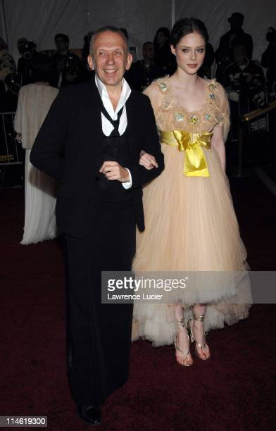 JeanPaul Gaultier and Coco Rocha during 'Poiret King of Fashion' Costume Institute Gala at The Metropolitan Museum of Art Arrivals at Metropolitan...