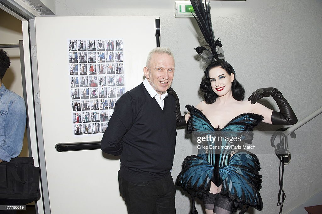 Jean Paul Gaultier, Paris Match Issue 3376, February 5, 2014