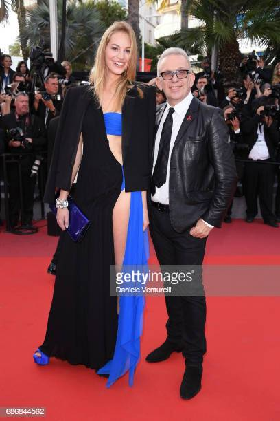 JeanPaul Gaultier and guest attends 'The Killing Of A Sacred Deer' premiere during the 70th annual Cannes Film Festival at Palais des Festivals on...