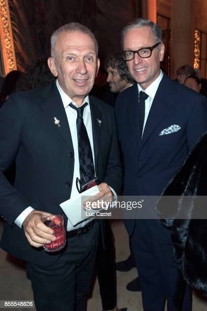 JeanPaul Gaultier and Madison Cox attend the Opening Party at Yves Saint Laurent Museum as part of the Paris Fashion Week Womenswear Spring/Summer...