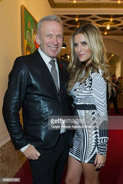 JeanPaul Gaultier and Sophia Thomalla attend the Artists Against Aids Gala 2014 at Theater des Westens on November 24 2014 in Berlin Germany
