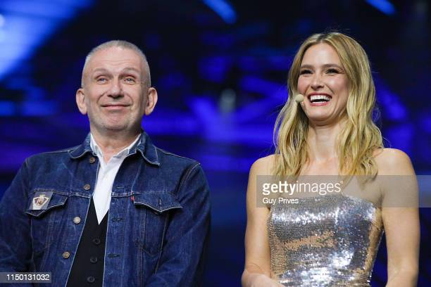 JeanPaul Gaultier and supermodel Bar Refaeli during the 64th annual Eurovision Song Contest held at Tel Aviv Fairgrounds on May 18 2019 in Tel Aviv...