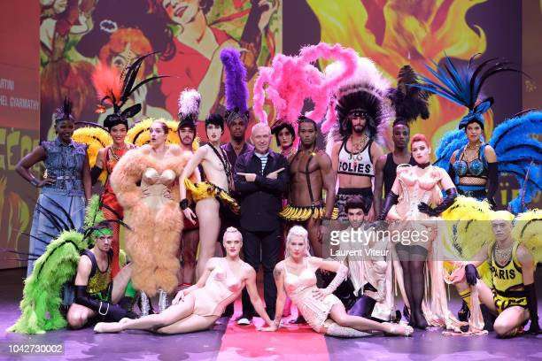 """Jean-Paul Gaultier and the cast of the show attend the """"Fashion Freek Show"""" as part of the Paris Fashion Week Womenswear Spring/Summer 2019 on..."""