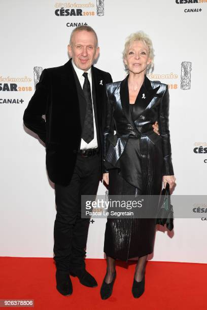 JeanPaul Gaultier and Tonie Marshall arrive at the Cesar Film Awards 2018 at Salle Pleyel on March 2 2018 in Paris France