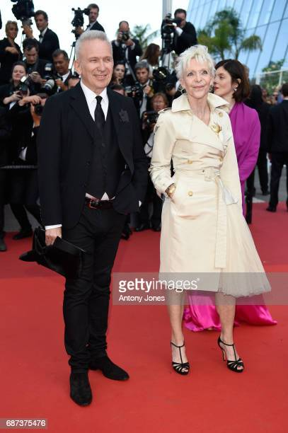 JeanPaul Gaultier and Tonie Marshall attend the 70th Anniversary of the 70th annual Cannes Film Festival at Palais des Festivals on May 23 2017 in...