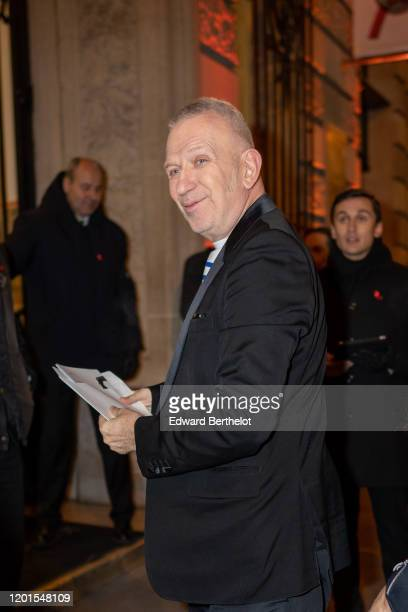 JeanPaul Gaultier arrives at Sidaction Gala Dinner 2020 At Pavillon Cambon on January 23 2020 in Paris France