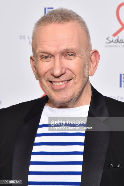 Jean-Paul Gaultier attends Sidaction Gala Dinner 2020 At Pavillon Cambon on January 23, 2020 in Paris, France.